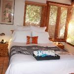 Plush bed with flip flops/kimonos/chocolates