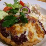 Red onion marmalade and mozzerella tartlet - superb
