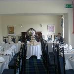 Function room set up for wedding reception