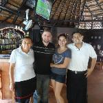 Pic with the staff on our last day in Playa