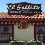 Front of El Gallito Mexican Restaurant, Cathedral City, CA