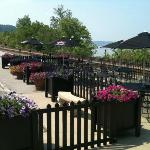 Outdoor seating at Caproni's