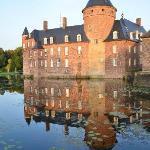 Beautiful Burg and its reflection