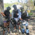 Me, my boyfriend, and my brother having a great time at the Surf Ranch Paintball course
