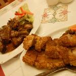 Adobo and bagnet. :) YUMMY!