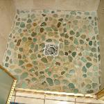 Stone Flooring in the Ocean Room's Shower