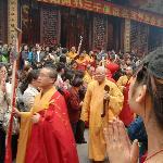 buddistisch feest in jade budda temple