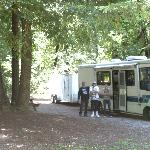 Nice Shady RV Sites & Tent sites. Great showers, Basketball, Pool, River; WE ARE COMING BACK!!!