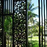 Lovely Balinese wood screen