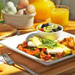 sunny morning breakfast omlette