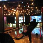 Bowling in the Coney Island Themed area.