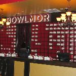 The main desk of Bowlmor Lanes.