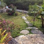 Lovely island landscaping