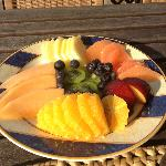 Fresh, delicious fruit platters every day for breakfast