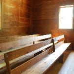 Inside one of the churches in Cades Cove