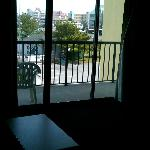 Our balcony from inside the room