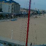 View of the beach from the Ferris wheel