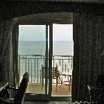 View of the balcony from room 1105