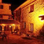 Notturno dell'albergo ripreso da una sua terrazza