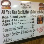 buffet costs