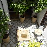 One of the small courtyards