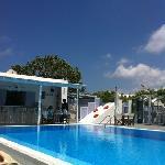 the pool and bar at Pelagos