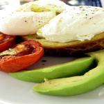 Poached Eggs on Brioche