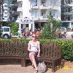just in front of the beach  kleopatra life at the back of pic