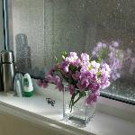 flowers in our bathroom