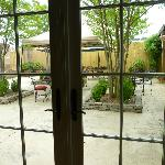 View of the patio from the large dining room