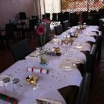 function in our varandah dining
