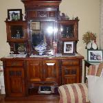 The beautiful sideboard in the guest sitting room