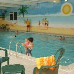 There are two indoor pools to enjoy - free