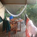 Terras private tent