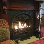 Fireplace in the drawing room
