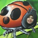 farsi la foto come insetto e inviarsela via e-mail