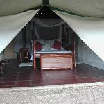 bedroom tent from outside