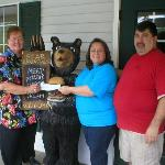 Christine and Al Jones participate with a community fundraiser