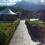 Spectacular mountain backdrop