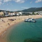 Tossa Beach, destination of boat trip, highly recommended