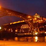 the landmark of porto by night