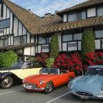 Lovely cars outside a lovely little hotel. Feels like we were in Scotland.