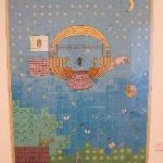 One of a series of whimsical paintings in one exhibit