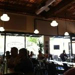 The inside view of the outside dining