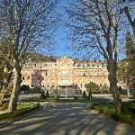 A fachada do palácio