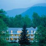 The Balsam Mountain Inn is set at 3,400 ft., just off the Blue Ridge Parkway