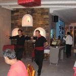 Greek Dancing at Viva Mare restaurant/Kosmoplaz Hote