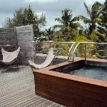 The honeymoon suite balcony