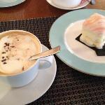 cappuccino? more americano! cake? no cream and icing! awful