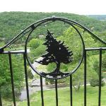 Big Cedar's logo on the balcony railing